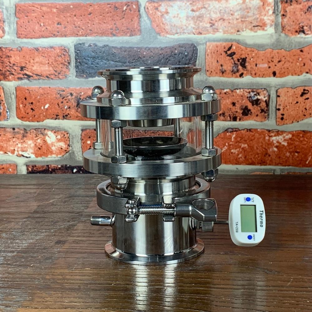"3"" 76mm OD91mm  Sight Glass Rectification Module , Reflux Column , Distillation , Sanitary Steel 304"