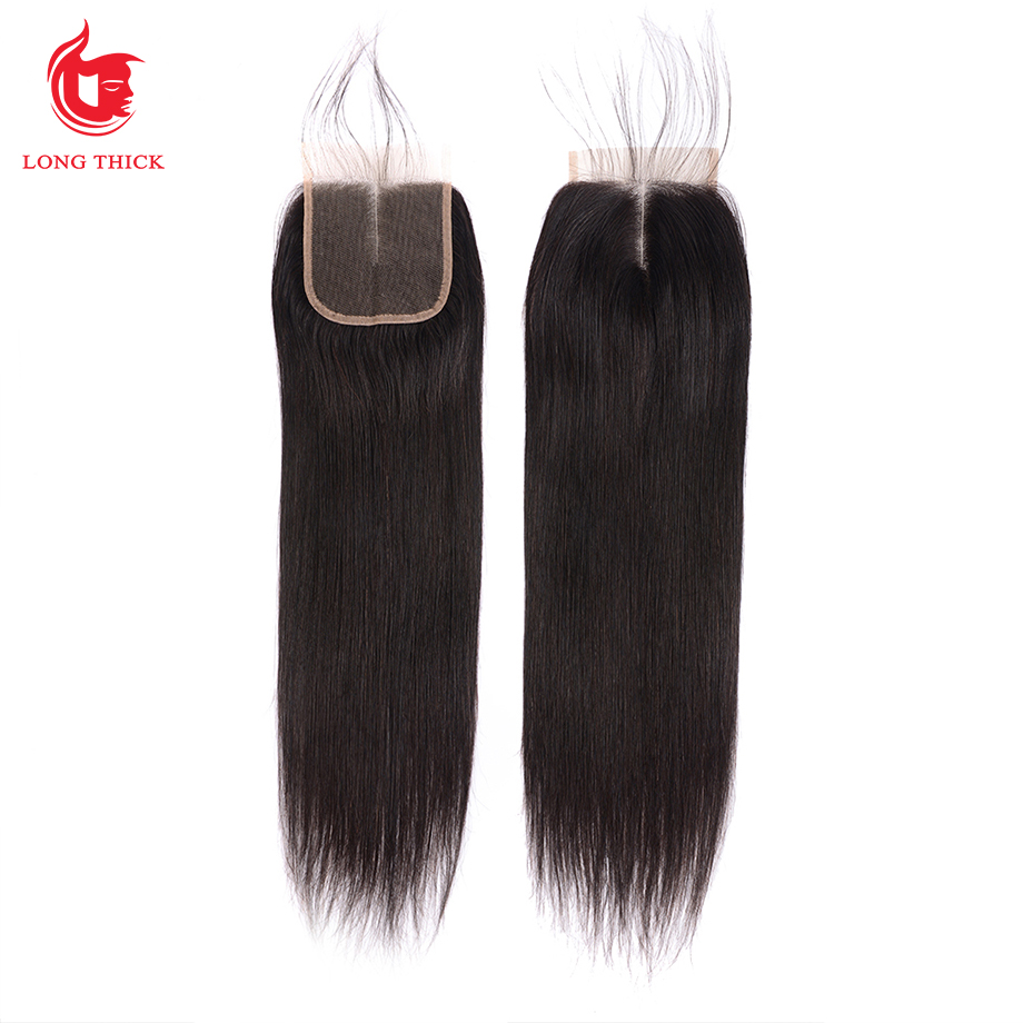 Bone Straight Hair 4x4 Swiss Lace Frontal Closure Pre Plucked  With Baby Hair   Products 6