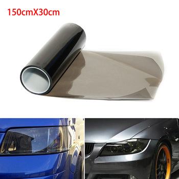 30 * 150cm Car-styling stickers PVC car matte black tint headlight taillight fog light vinyl Rear film lamp tint Film car styling decoration 1pc 12x78 chameleon clear car headlight tail fog light vinyl tint film wrap uv protector