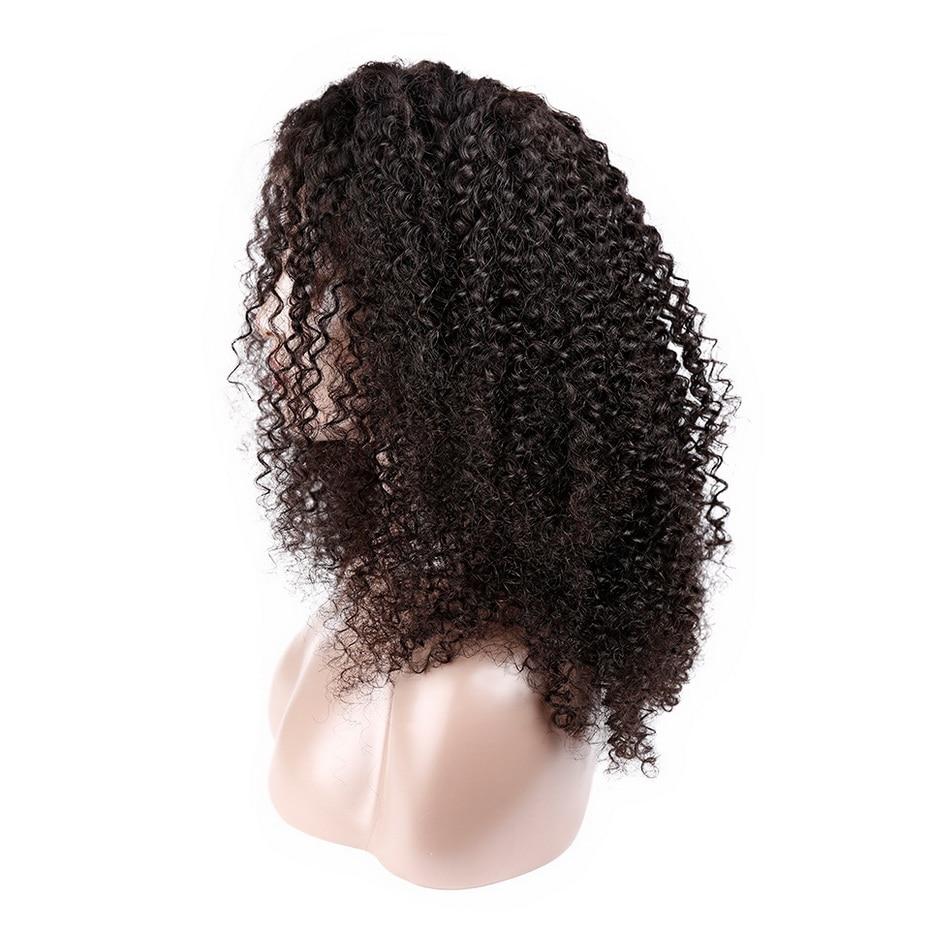 Афро парик из бразильских курчавых, предварительно вырезанные бразильские волосы парики ms lula Реми 150 Плотность 13x4 Синтетические волосы на к... - 4