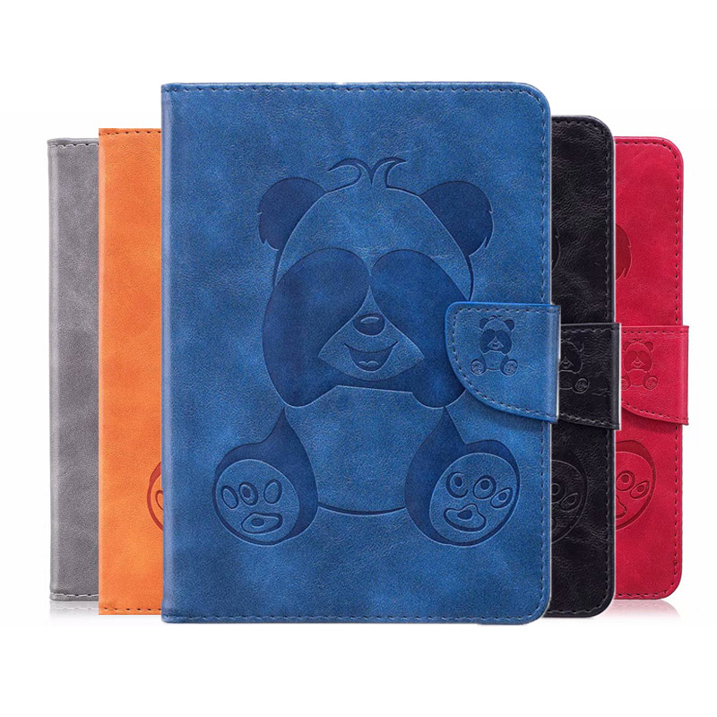 3D Lovely Panda PU Leather Case For Amazon Kindle Voyage 6 inch Cover for Kindle E Reader Auto Sleep/Wake up case +FilmGift(China)