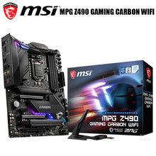 100%-placa base de carbono para videojuegos, MSI, MPG, Z490, WiFi, LGA 1200, PCI-E, 4,0 M.2, DDR4, Original, para escritorio, Z490, 1200, DDR4, Z490, nuevo