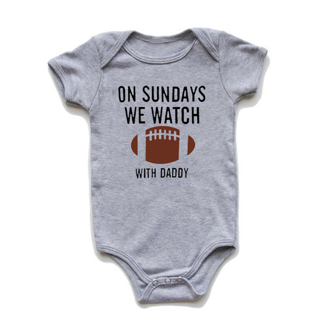 Sunday Football Bodysuit; Sundays Are For Football With Daddy; Daddy/'s Girl One-Piece; Football; Sunday Football Outfit; Trendy Kids Clothes