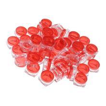 50 sztuk kwadratowych pojemników słoiki plastikowe pojemniki kosmetyczne zestaw z pokrywką do kremów płynnych próbki 5 gramów akcesoria podróżne tanie tanio gazechimp CN (pochodzenie) Butelki podróży zestaw Empty Cosmetic Jar Pot