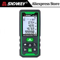Sndway 녹색 레이저 거리 측정기 100m 70m 50m 거리 측정기 레이저 테이프 측정 Trena Digital Roulette Lazer Ruler Rangefinder