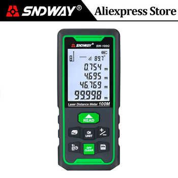 Sndway Grün Laser Abstand Meter 100m 70m 50m Reichweite finder Laser Maßband Trena Digitale Roulette Lazer herrscher Entfernungsmesser