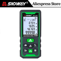 Sndway-Medidor de distancia láser verde, telémetro de rango de 100m, 70m, 50m, cinta métrica láser Trena, regla Digital de ruleta
