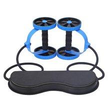 Unisex karın tekerlek AB rulo çift kas çalıştırıcı tekerlek spor streç elastik bant spor spor egzersiz egzersiz ekipmanları