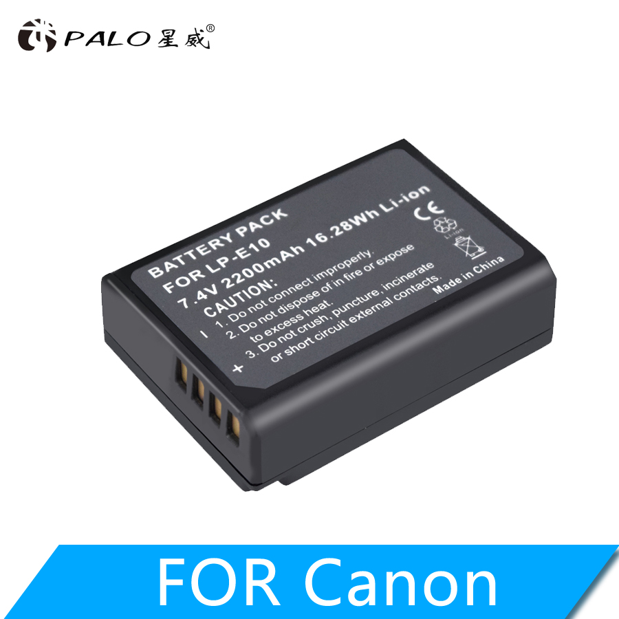 PALO LP-E10 LPE10 LP E10 Digital Camera Battery For Canon EOS 1100D 1200D 1300D 2000D Rebel T3 T5 T6 KISS X50 X70 Battery L10