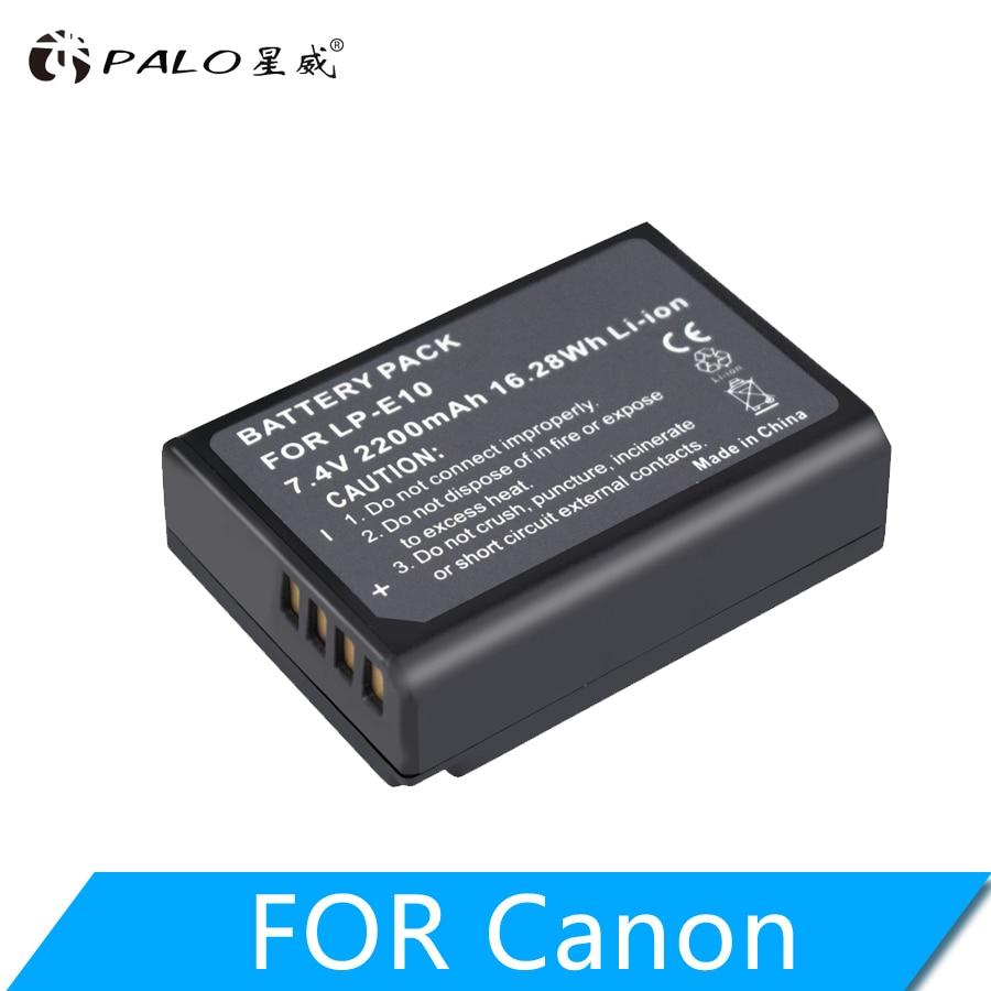 PALO LP-E10 LPE10 LP E10 Digital Camera Battery For Canon EOS 1100D 1200D 1300D 2000D Rebel T3 T5 T6 KISS X50 X70 Battery L10
