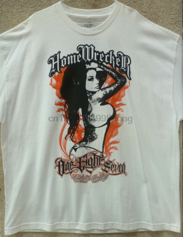 187 Inc Men T-shirt Homewrecker bad girls need love too -- Color White