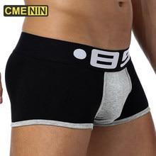 CMENIN Sexy hommes caleçon boxeur hommes Gay Boxers Shorts coton hommes sous-vêtements Lingerie coton sous-vêtements culotte Gay BS70