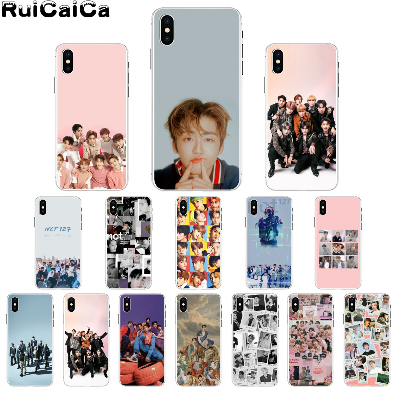 RuiCaiCa <font><b>KPOP</b></font> K.A.R.D MONSTA X NCT 127 Drawing Phone <font><b>Case</b></font> cover Shell for Apple <font><b>iPhone</b></font> 8 7 6 6S Plus X XS MAX 5 5S SE XR Cover image
