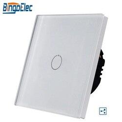 Bingoelec 1/2/3Gang 2Way przełącznik na klatkę schodową/ścianę  białe szkło hartowane Touch 2Way przełącznik światła EU/UK standard AC110-250V