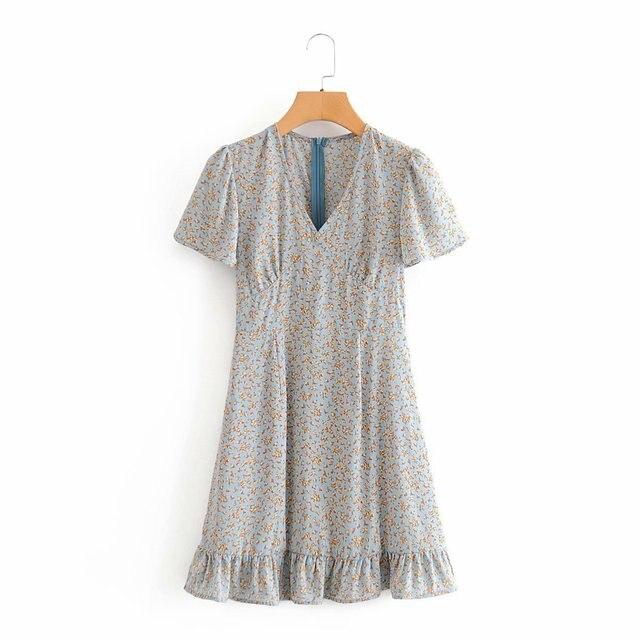 2020 Summer New Watermark Blogger Celebrity Inspired Dress zaraing-style za vadiming sheining Sukienka Boho women dress Dj9122