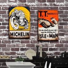 Lambretta Triumph Motorräder Metall Wand Kunst Zinn Zeichen Vintage Garage Home Decor Retro Indische Poster Wand Dekorative Plaques