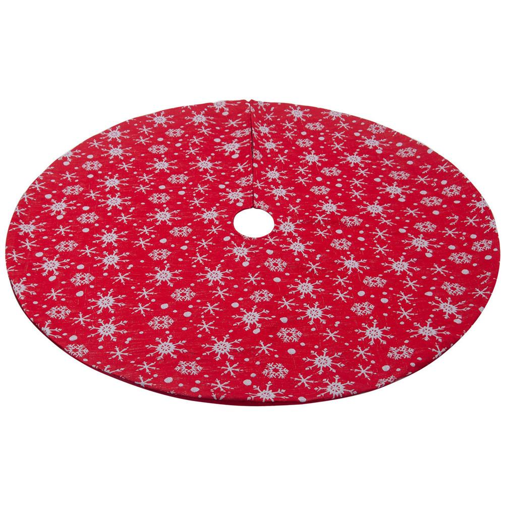 Christmas Tree Skirt Party Christmas Decorations Christmas Tree Bottom Apron Non woven Red White Snow Tree Skirt 120CM in Tree Skirts from Home Garden