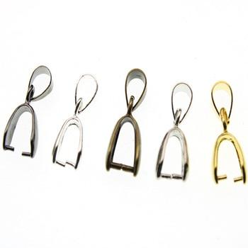 20pcs/lot Necklace Pendant Pinch Clip Bail Clasps Hooks Connector Fermoir Connecteur Collier For DIY