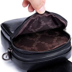 Image 5 - Fashion Mobile Phone Bag Small Clutches Shoulder Bag Genuine Leather Women Mini Handbag High Quality Purse Flap Cross body Bags