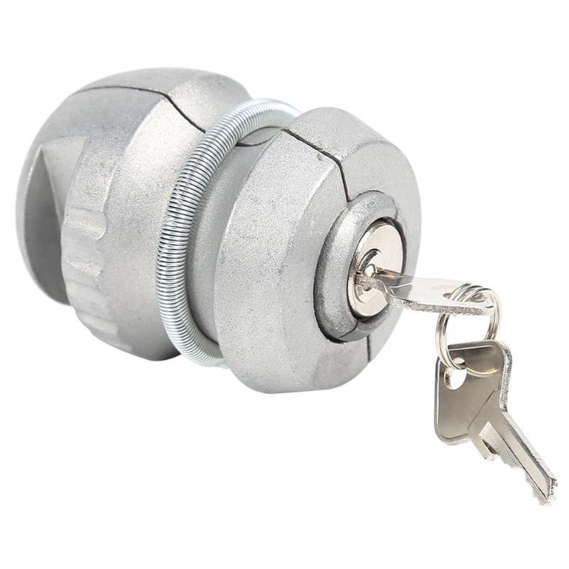 VODOOL Zinc Alloy Trailer Parts Hitch Lock Ball Lock Universal Coupling Tow Caravan Trailer Connector Locking Accessories 2 Keys