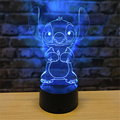 Стежок 3D Ночник светильник с героями мультфильмов светодиодный настольная лампа 7 цветов Изменение RBG Иллюзия декоративная лампа Декор для ...