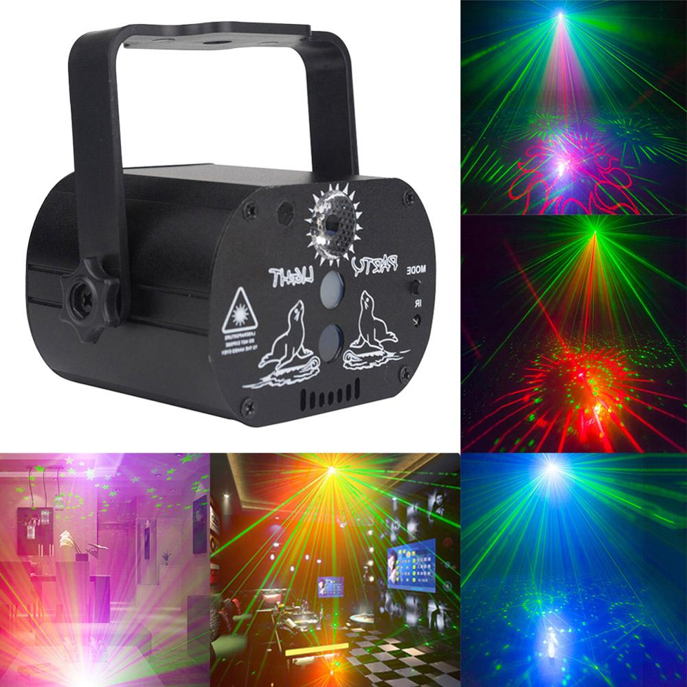 Mini LED Laser Projector Light Portable 180 Degree Manual Rotation USB Rechargeable Club Party DJ Disco Stage Light