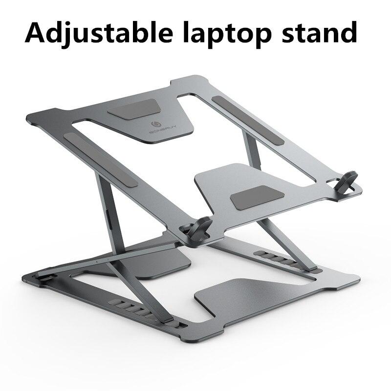 Регулируемая Складная подставка для ноутбука нескользящий Настольный держатель