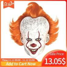 Horror Pennywise Joker Mask Cosplay it capitolo 2 Clown maschere in lattice Costume di Halloween puntelli Deluxe