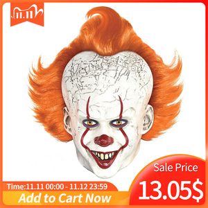 Image 1 - Horror Pennywise Joker Mask Cosplay it capitolo 2 Clown maschere in lattice Costume di Halloween puntelli Deluxe