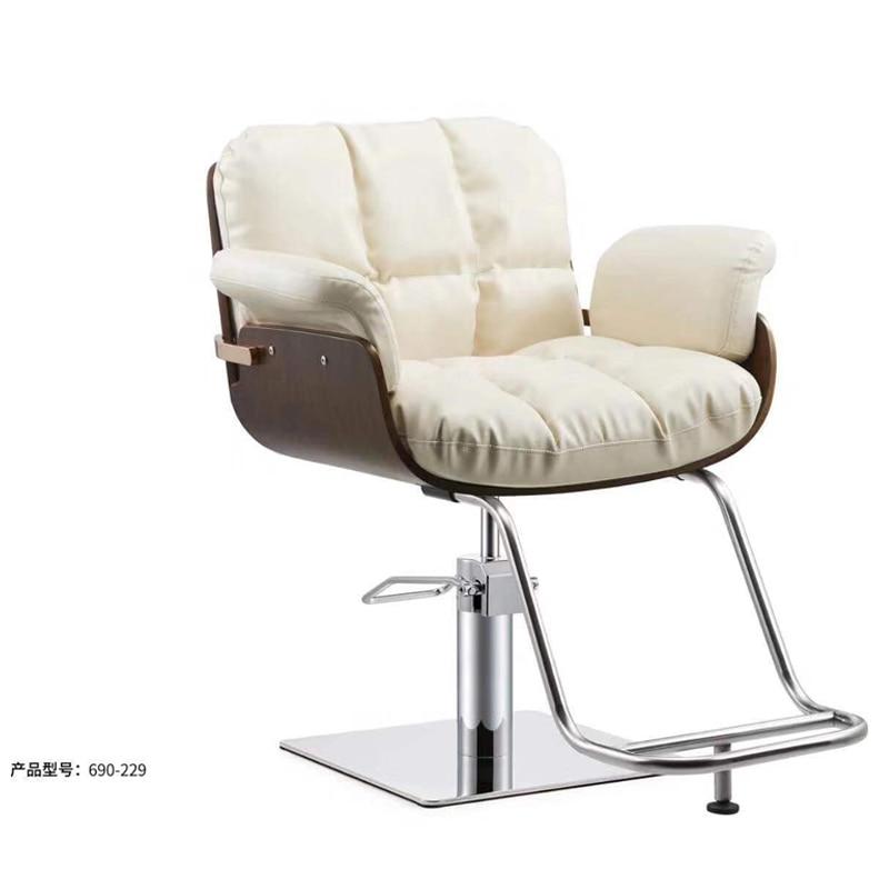 Ins Barber Shop Chair Hair Salon Special Haircut Chair Lift Disc Seat European Style Simple Modern Hairdressing Chair
