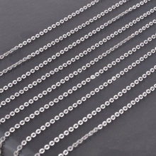 1.5/2/2.5/3.2mm 10/20/50/100pcs Wholesale Women's Bulk Silver Stainless Steel Welding Strong Thin Rolo O Link Necklace Chain(China)