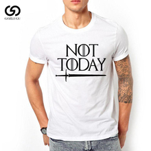 Dracarys right game around the US drama not today Printed T-shirt mens short sleeve