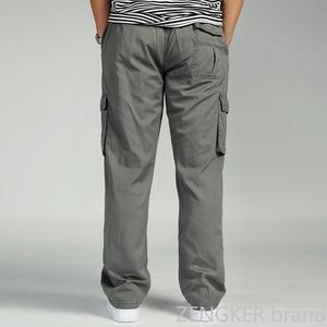 Image 3 - Spring and autumn men loose big size XL straight pants oversize elastic waist trousers casual pants men 6XL 5XL 4XL 3XL
