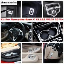 Tay Cửa Sổ Nâng Nút Cốc Nước Bảng Giữ Bao Viền Nội Thất Cho Benz C CLASS W205 C200 C260 2015   2020 Phụ Kiện