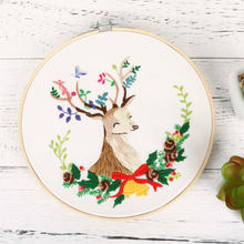Рождественский Набор для вышивки с изображением лося diy обручем