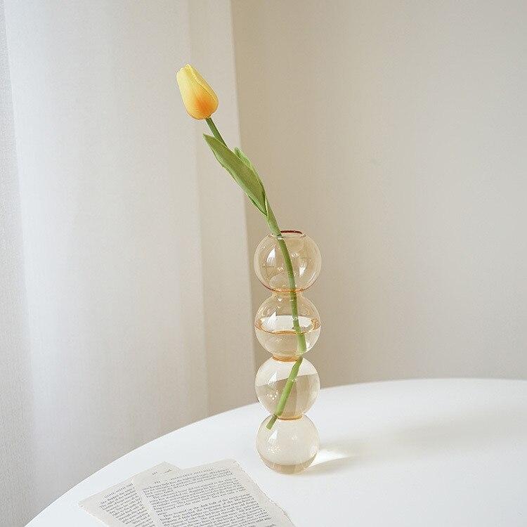 Vase en verre de décoration intérieure, Vase en cristal, plantes hydroponiques modernes, frais européens pour mariages, événements, fêtes créatives 5