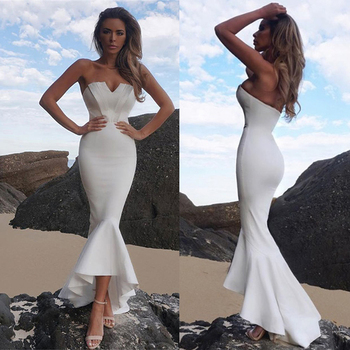 Mermaid Sexy off shoulder Tube top white Dress bodycon Backless Night club Beach Maxi Dress Party Long Women elegant Dress 2020 1