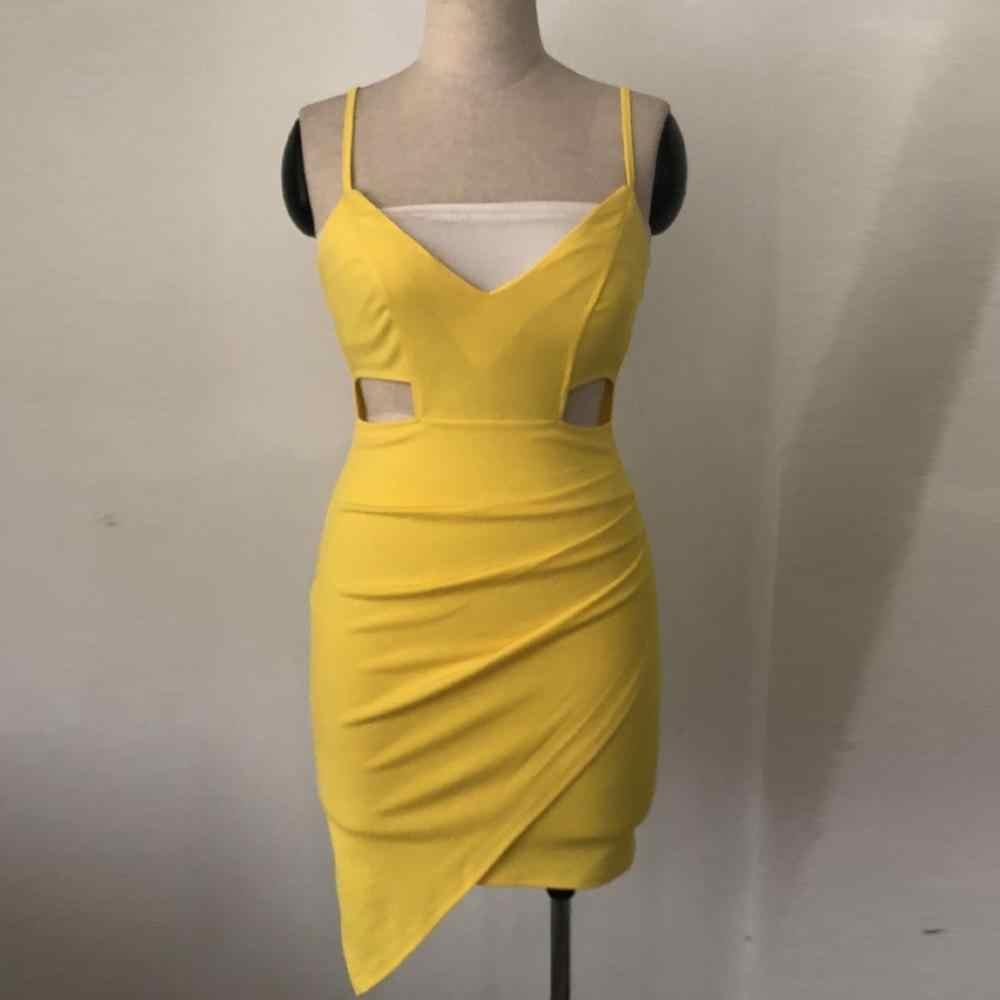 Однотонное женское платье, лето 2019, без рукавов, глубокий v-образный вырез, плотно, облега, Облегающее, ягодицы, Повседневное платье, весна, sukienka vestidos # G9