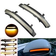 2 PCS For Skoda Octavia 2009-2013 SUPERB 2008-2014 Dynamic LED Turn Signal Blinker Mirror Flasher Light Sequential Lamp