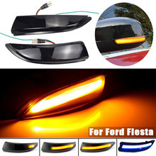 LED Dynamic Turn Signal Light Fit For Ford Fiesta MK6 VI /UK MK7 2008-17 B-Max 2012-2017 Flowing Water Blinker Flashing Light