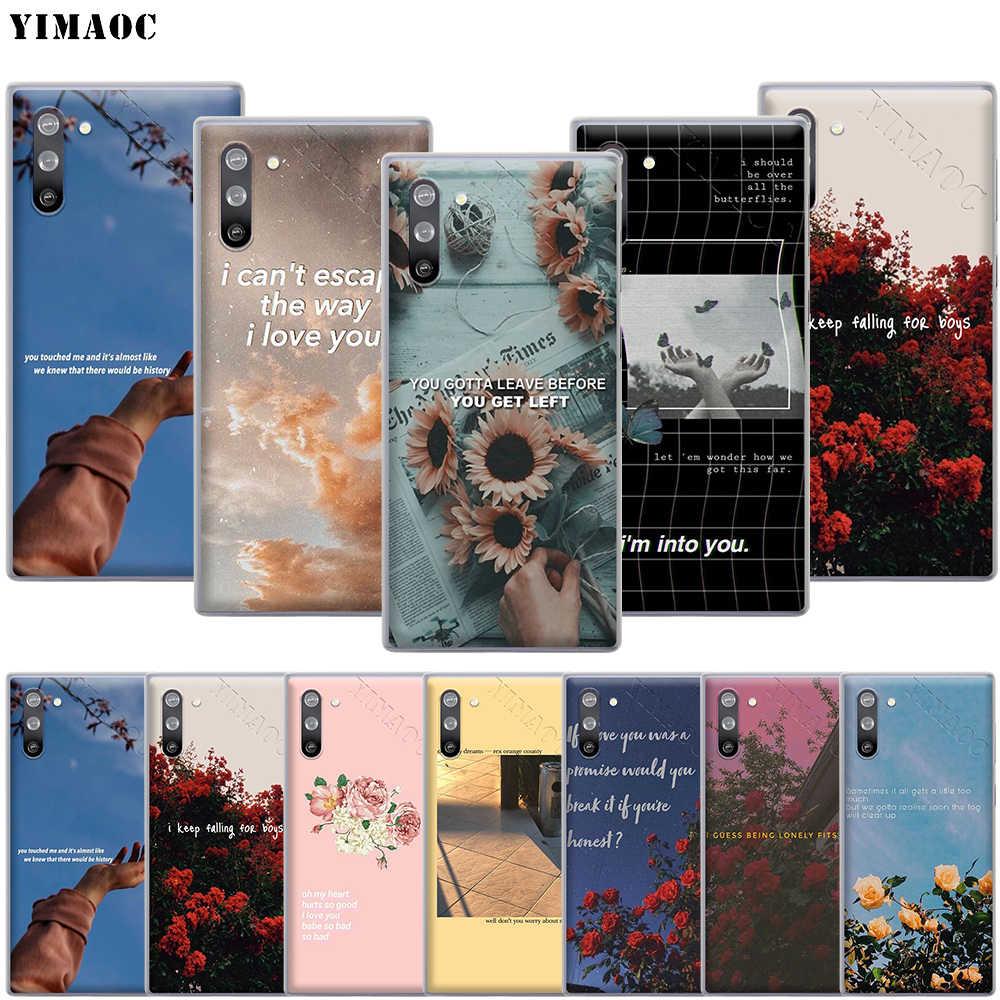YIMAOC שירים מילות אסתטי מקרה לסמסונג גלקסי S10 S9 S8 S7 בתוספת A70 A60 A50 A40 A30 A20 A10 a50S A30S A20S