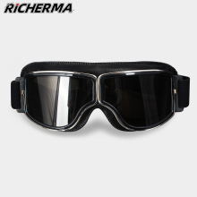 Windproof Motorcycle Glasses Safety Leather Steampunk Glasses Protective Anti glare Helmet Goggles Motocross Cross country