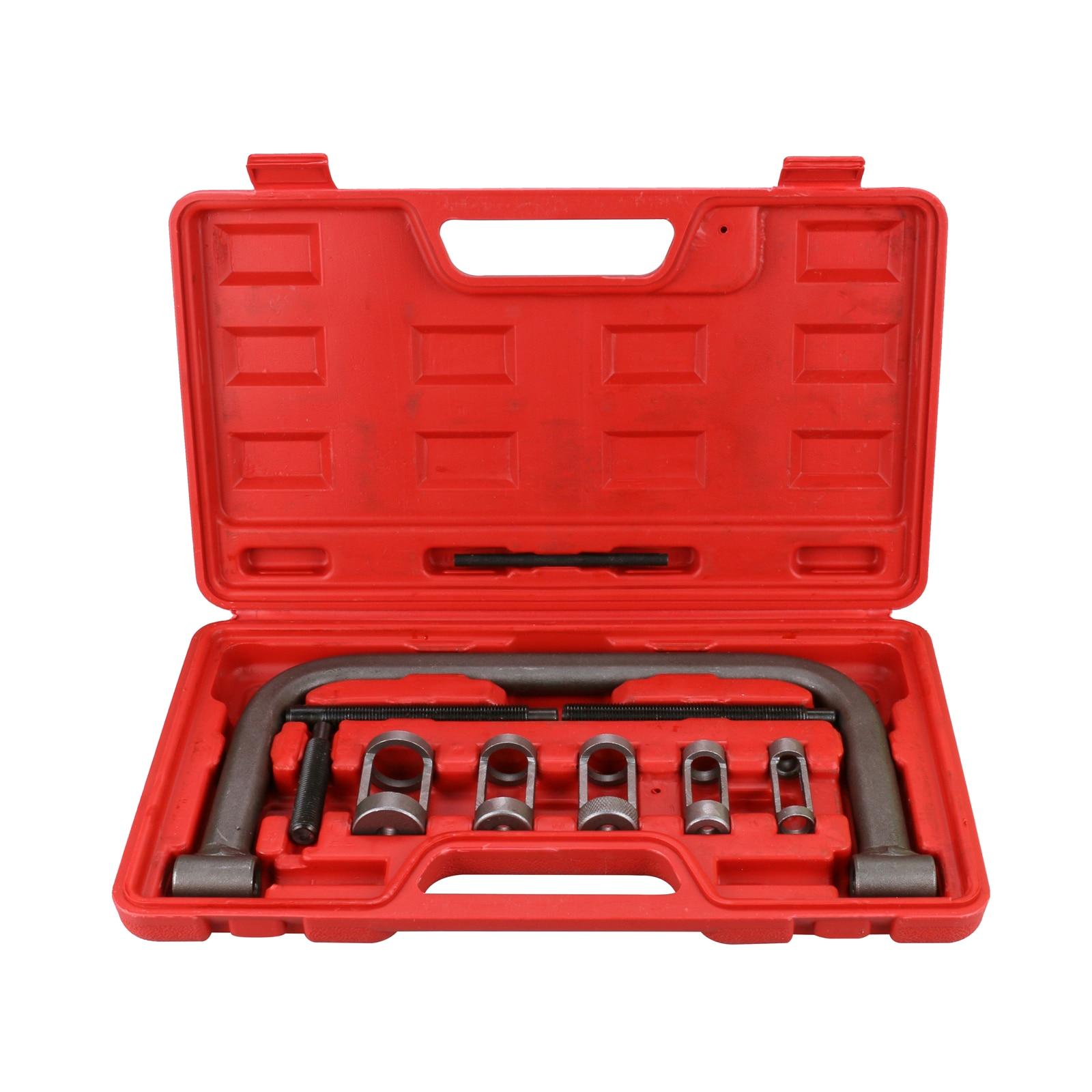 Compressor Removal Tool 10 Pcs//Set Valve Spring Compressor Kit Universal Spring Compressors Removal Installer Tool for Car Van Motorcycle Engines