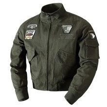 Adı marka erkek ceket ve mont rahat rop giyim XXXXXXL artı boyutu erkek mont bahar askeri erkek ceketler Streetwear A631