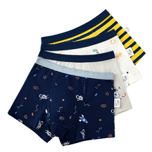 Boys Boxer Underwear Navy-Blue Striped Kids Cotton 14-Years-Old for 203021 12 8 3-4 6