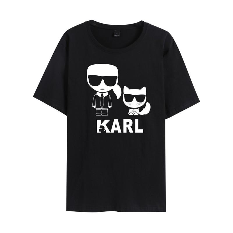 Fashion Loose Short Sleeved T-shirt Logo Print Soft Short Men Women Summer Cotton Tshirt Casual Tops & Tees