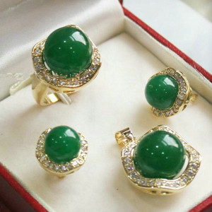 Image 5 - FYS004 Multi color Choices White green  AAAA CZ White  South Sea Shell Pearl Ring Pendant Earring Jewelry Set