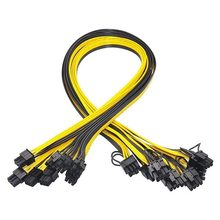 10 Pcs 6 Pin PCI E to 8 Pin(6+2) PCI E (Male to Male) GPU Power Cable 70cm for Image Cards Mining Server Breakout Board