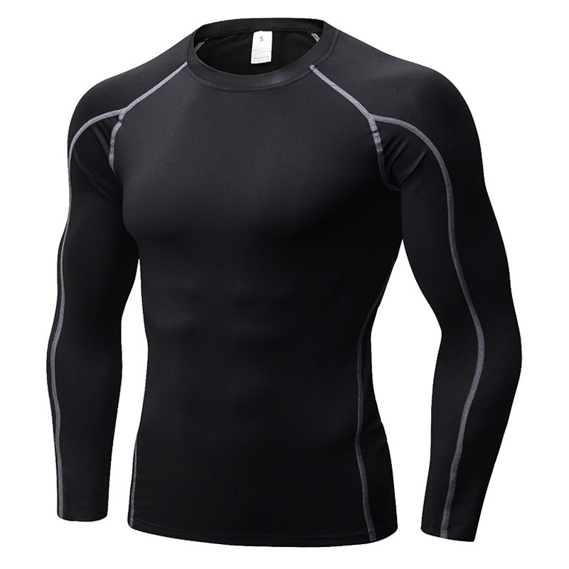 Quick Dry Compression Shirt Fitness Gym Running Shirt Men Long Sleeve Man's T-shirt Bodybuilding Sport Gym Shirt Male Rashguard