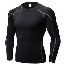 T-shirt à manches longues pour homme, maillot de Sport à séchage rapide, pour la course à pied, le musculation
